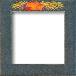 "GBFRFA14 Matte Green with Hand painted  Pumpkins Frame 8""X 8""."