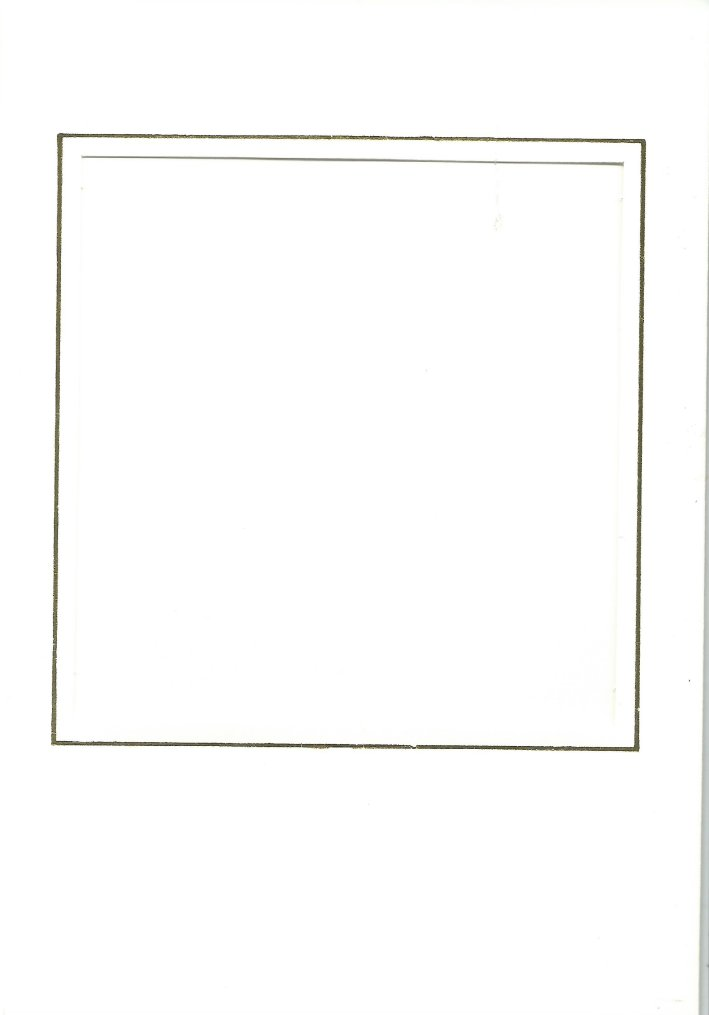 PK024-30A White Double Fold with Medium Square Aperture. Pack of 5 Cards