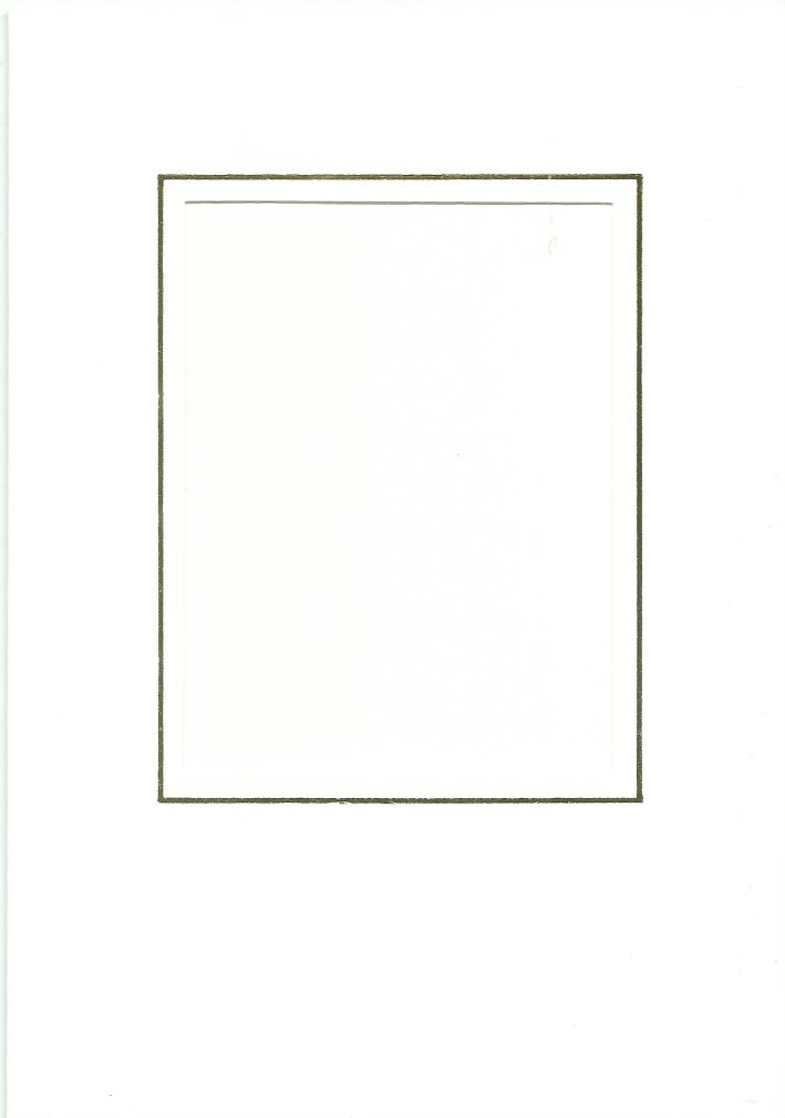 PK026-30A White  Medium Rectangle Card Double Fold with Small Rectangle Aperture.   Pack of 5 Cards
