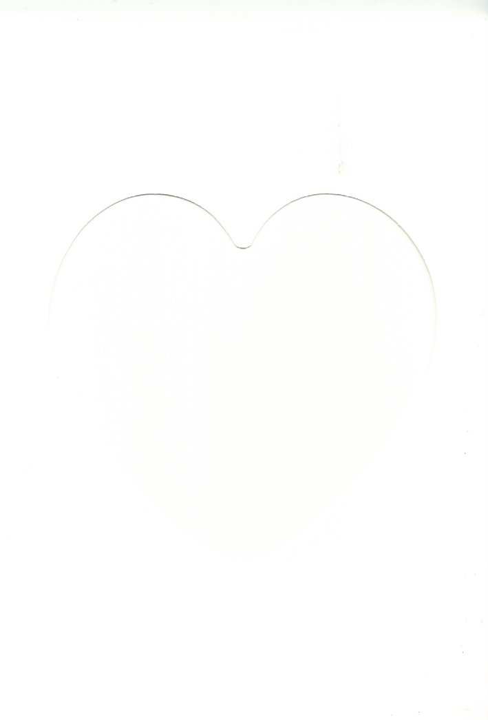 PK011-30 White Double Fold with Medium Heart Aperture. Pack of 5 Cards