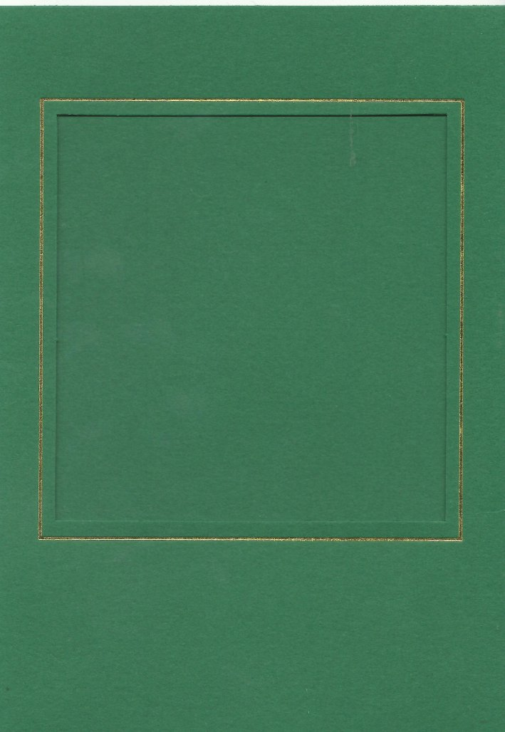 PK024-23 Green Double Fold with Medium Square Aperture. Pack of 5 Cards