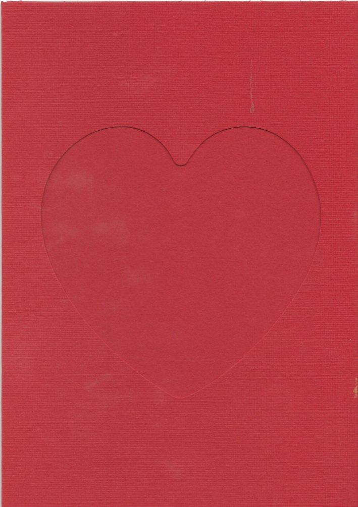 PK011-180  Pack of 5 heart aperture Cards