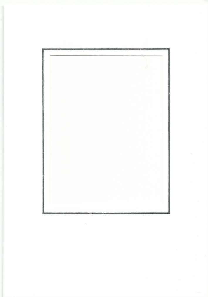 PK026-30B White  Medium Rectangle Card Double Fold with Small Rectangle Aperture.   Pack of 5 Cards