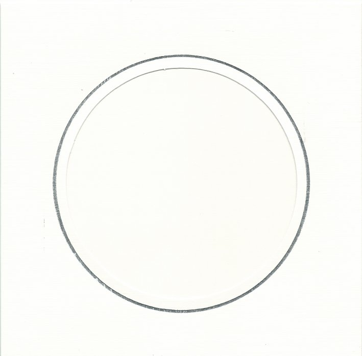 PK384-43B White Double Fold with Extra Large Round Aperture. Pack of 1 Card
