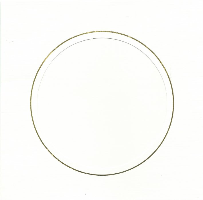 PK384-43A White Double Fold with Extra Large Round Aperture. Pack of 1 Card