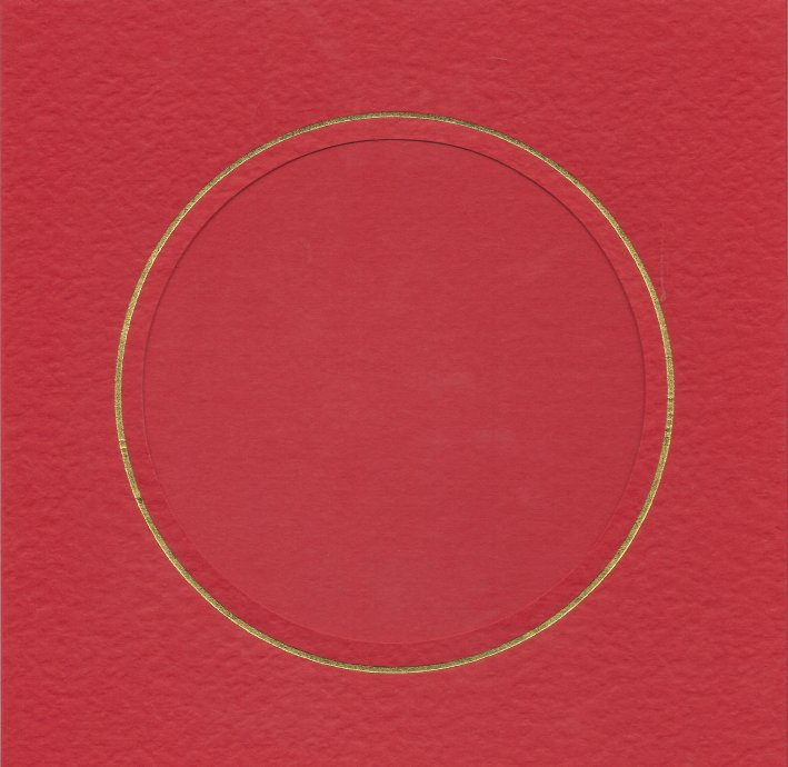 PK384-49 Red Double Fold with Extra Large Round Aperture. Pack of 1 Card