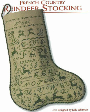 #243 French Country Reindeer Stocking