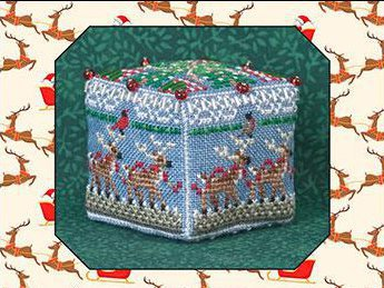 JN292 8 Tiny Reindeer Cube by Just Nan
