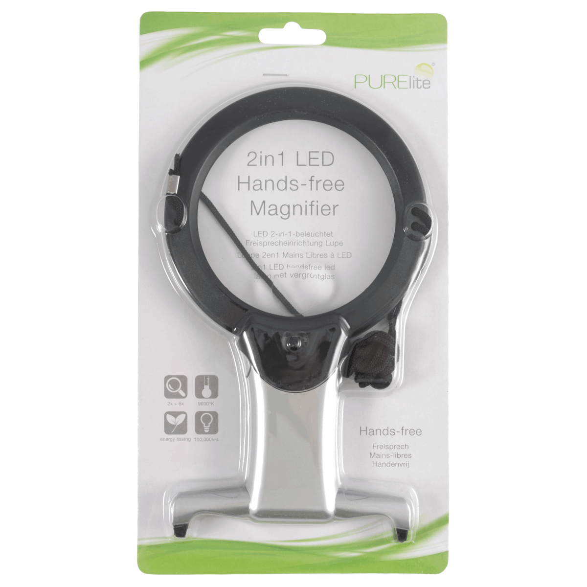 Magnifier: Illuminated: Hands-Free: 2-in-1: LED Code: CFPL05